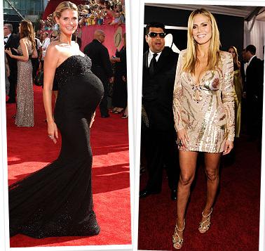 хайди клум до и после беременности